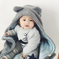 Cute bear Soft Baby Blanket Baby Towels Animal Shape Hooded Towel Lovely Baby Bath Towel High Quality Baby Hooded Bathrobe