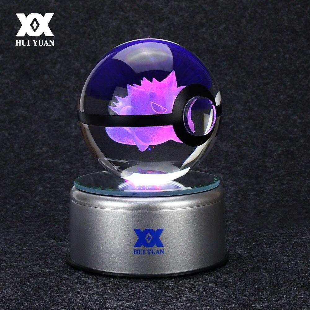 Pokemon Squirtle 3D LED Kristall Kugel Tischlampe Nachtlicht Geburtstag Kind