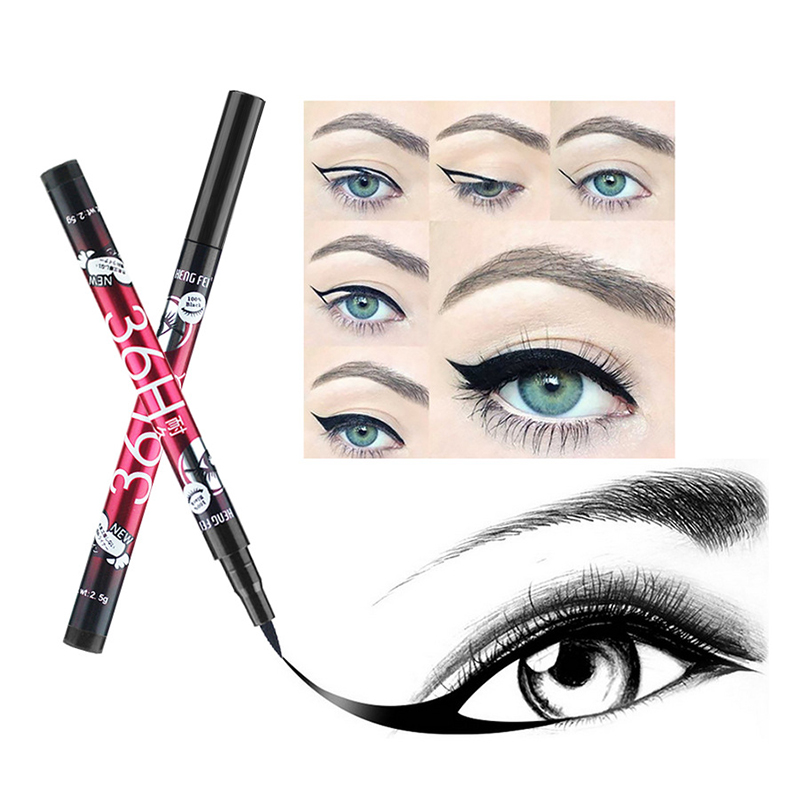 3Pcs New Black Waterproof Eyeliner Pencil 36H Long Lasting Liquid Eye Liner Pencil Pen Makeup Beauty Natural Eyes Cosmetics Sets
