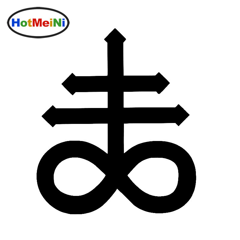 HotMeiNi Personalized Lettering Art Leviathan Cross Satanic Brimstone Car Stickers Truck Bumper Laptop Canoe Wall Vinyl Decal horse riding sticker for car rear windshield truck suv bumper auto door laptop kayak canoe art wall die cut vinyl decal 8 colors