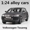 1:24 alloy cars,Volkswagen Touareg high simulation car model,metal diecasts,coasting,the children's toy vehicles,free shipping