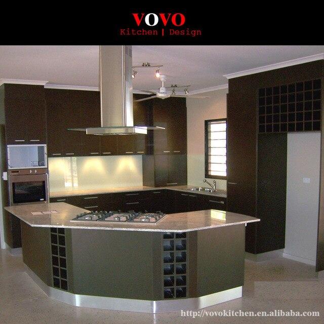 Luxus Küche Insel Mit Weinregal