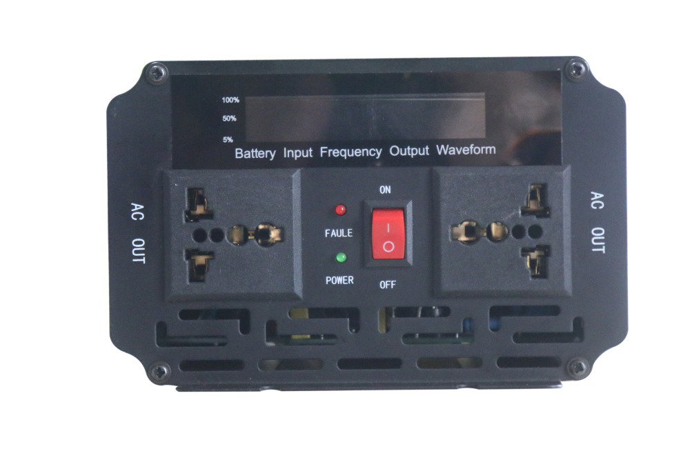 2000W LCD display Modified Wave <font><b>UPS</b></font> Inverter with 20A battery <font><b>charger</b></font> DC12V/DC24V to AC220V