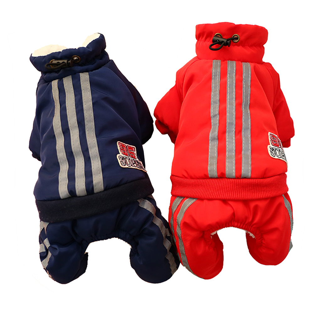 Warm Winter Pet Dog Coat Clothes Thick Dog Jumpsuits Overalls For Dogs Small Dog Clothes Warm Pet Outfit Clothing