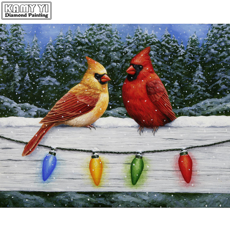 100% Full 5D Diy Daimond Painting Cross-switch Couple Birds 3D Diamond Painting Square/Round Rhinestones Painting Embroidery