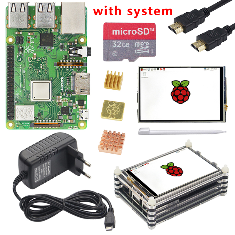 Original Raspberry Pi 3 Model B Plus with WiFi Bluetooth 3 5 inch Touch Screen Case