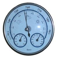 No Battery operated Aneroid Barometer Hygrometer Thermometer 128mm diameter Weather Station