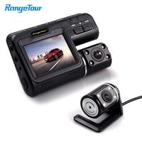 Car DVR i1000s Dash Camera Dual Lens 1080P Black Box Driving Recorder Front cam With 4 IR Lights Night Vision Inside The Car