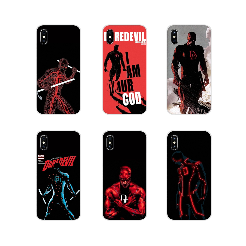 Mobile Marvel Comics Daredevil Red TPU Transparent Case Cover For Samsung Galaxy A3 A5 A7 A9 A8 Star A6 Plus 2018 2015 2016 2017 image