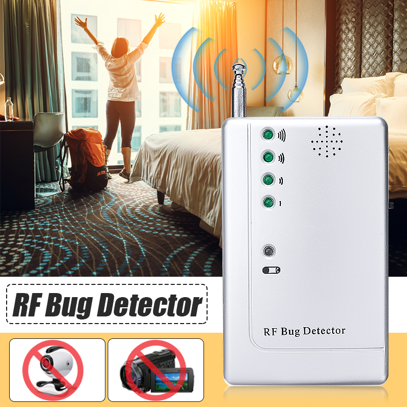 RF Scanner Detector Bug Camera Bug Detector WiFi Signal GPS GSM Radio Phone Device Finder Private Protect Security 1 pcs full range multi function detectable rf lens detector wireless camera gps spy bug rf signal gsm device finder
