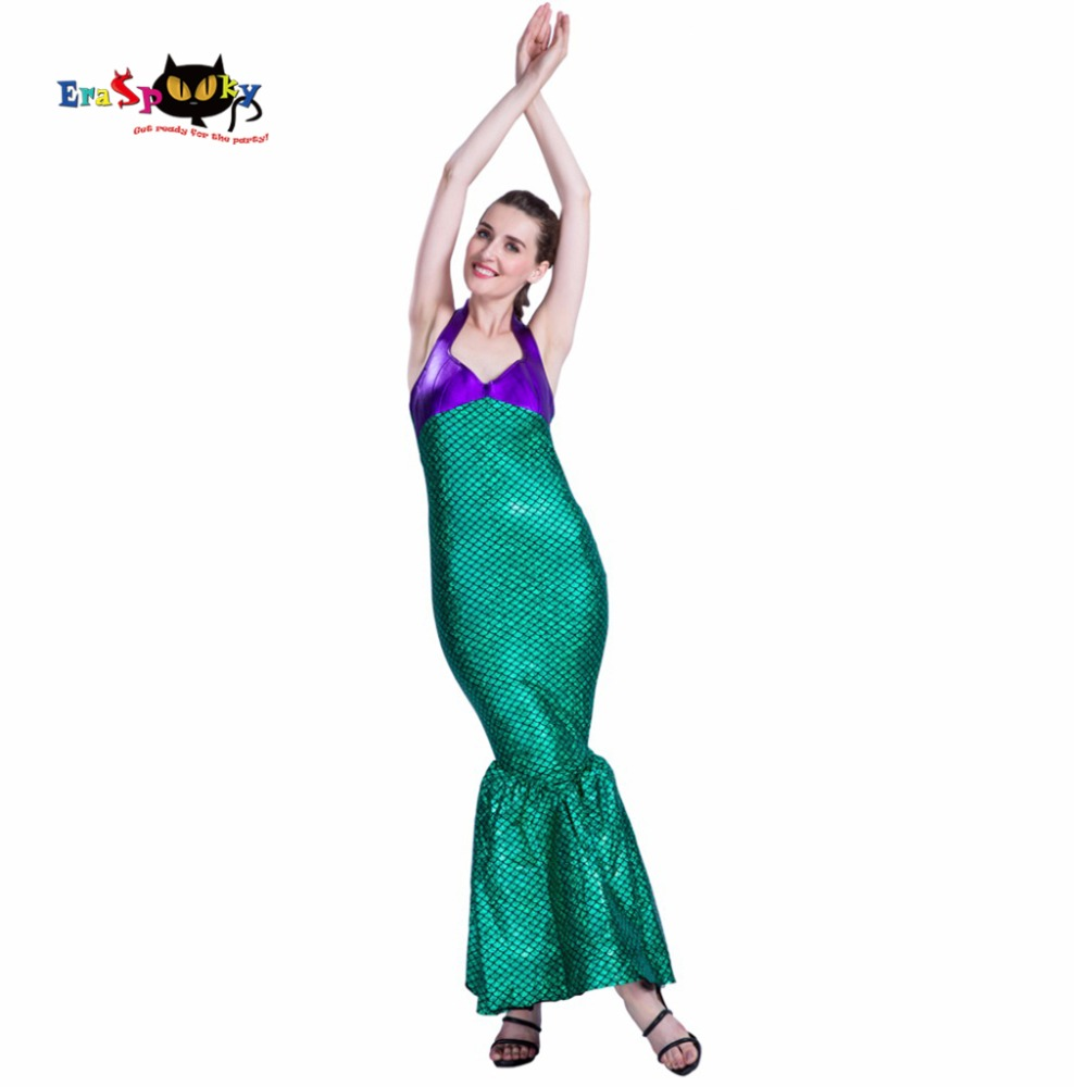 New Arrival Adult Christmas Cosplay Sexy Halloween Costume Ladies Bodycon Backless Fancy Dress Mermaid Costume Women 2017