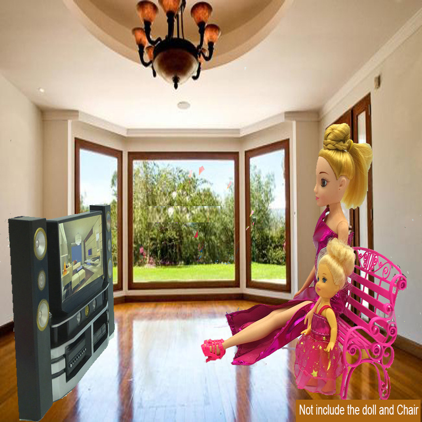 1PC Miniature TV Theater Cabinet Set Living Room Furniture BJD Doll Toys  Princess Doll House Accessories Kids Gift ZM1067 In Dolls Accessories From  Toys ...
