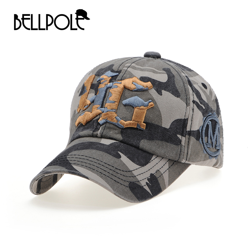 BELLPOLE fashion camouflage baseball cap swag cap Casual Outdoor Sport snapback Hat for men army Cap women gorra casquette