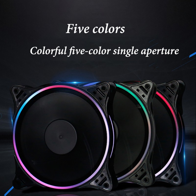 2019 Aigo DR12 Computer Case PC Cooling Fan RGB Adjust LED 120mm Quiet IR Remote New computer Cooler Cooling RGB Case Fan CPU