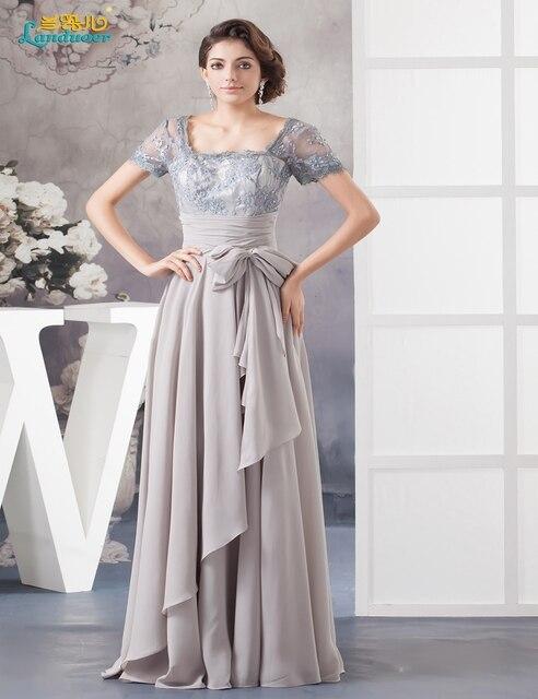 e44d14fb6b89 € 122.21 |La madre de la boda vestidos de encaje de plata traje pantalón de  Gasa con cuentas madre de la novia vestidos de manga corta de noche largo  ...