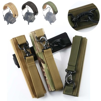 Molle wodoodporna słuchawka pokrywa taktyczny z pałąkiem na głowę modułowe zestaw słuchawkowy słuchawki pokrywa W pasek samoprzylepny do nauszniki akcesoria tanie i dobre opinie BK OD TAN MC