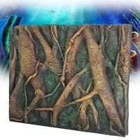 60x45cm 3D PU Tree Root Reptile Aquarium Fish Tank Background Backdrop Fish Tank Board Plate Landscaping Decor Decorative Board