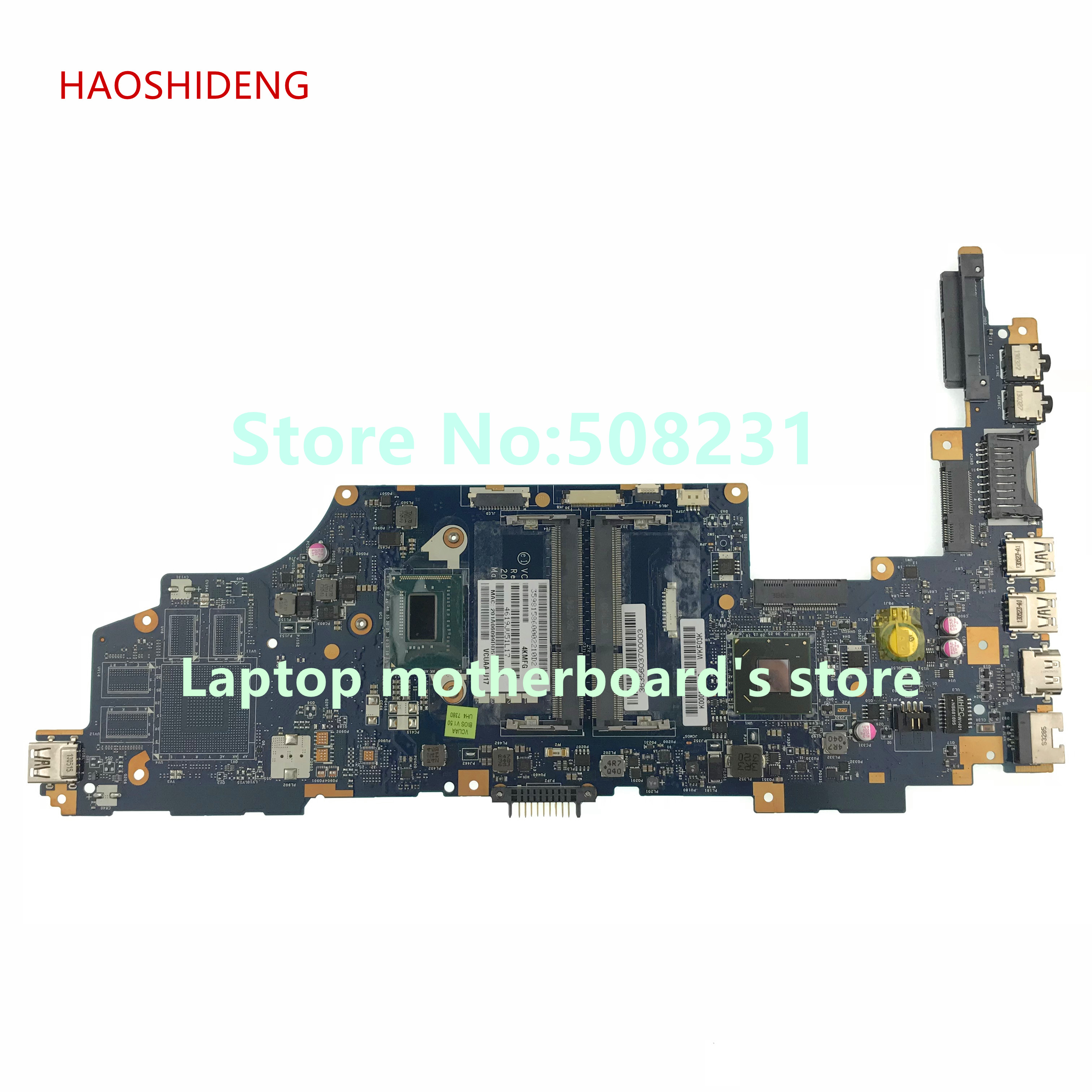 HAOSHIDENG K000141020 LA-9161P For Toshiba Satellite U940 U945-S4110 series laptop motherboard with SR0XF I3-3227U fully Tested nokoton mainboard nbm4911008 nb m4911 008 for acer aspire v5 571g laptop motherboard sr0xf i3 3227u tested