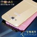 Caixa do telefone para Samsung Galaxy A8, metal A8000 rígido de alumínio quadro + PC Protector tampa traseira para um 8 carcaça do telefone móvel