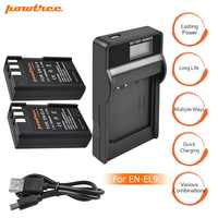 2 paquetes EN-EL9 es EL9 ENEL9 ENEL9a es EL9a Cámara baterías + LCD USB cargador para Nikon EN-EL9a D40 D60 d40X D5000 D3000 L15