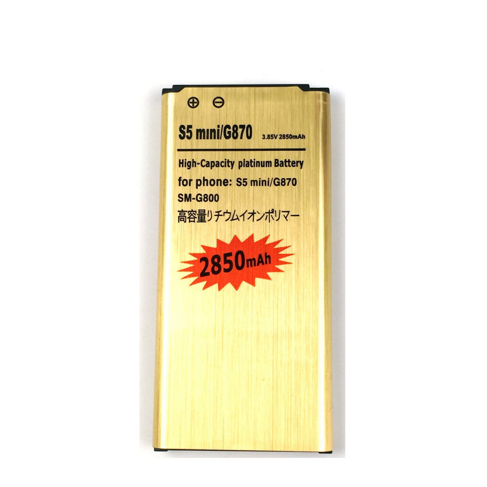 New Replacement 2850mAh Gold Battery For Samsung Galaxy S5 Mini G800 <font><b>G870</b></font> G870a G870W SM-G800 S5 S5mini + Tracking Code image