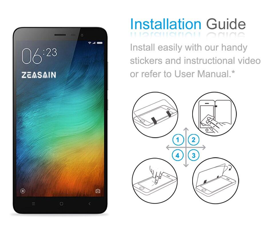 Asli ZEASAIN Ultra Tipis 9 H Screen Protector Tempered Kaca Untuk - Aksesori dan suku cadang ponsel - Foto 6