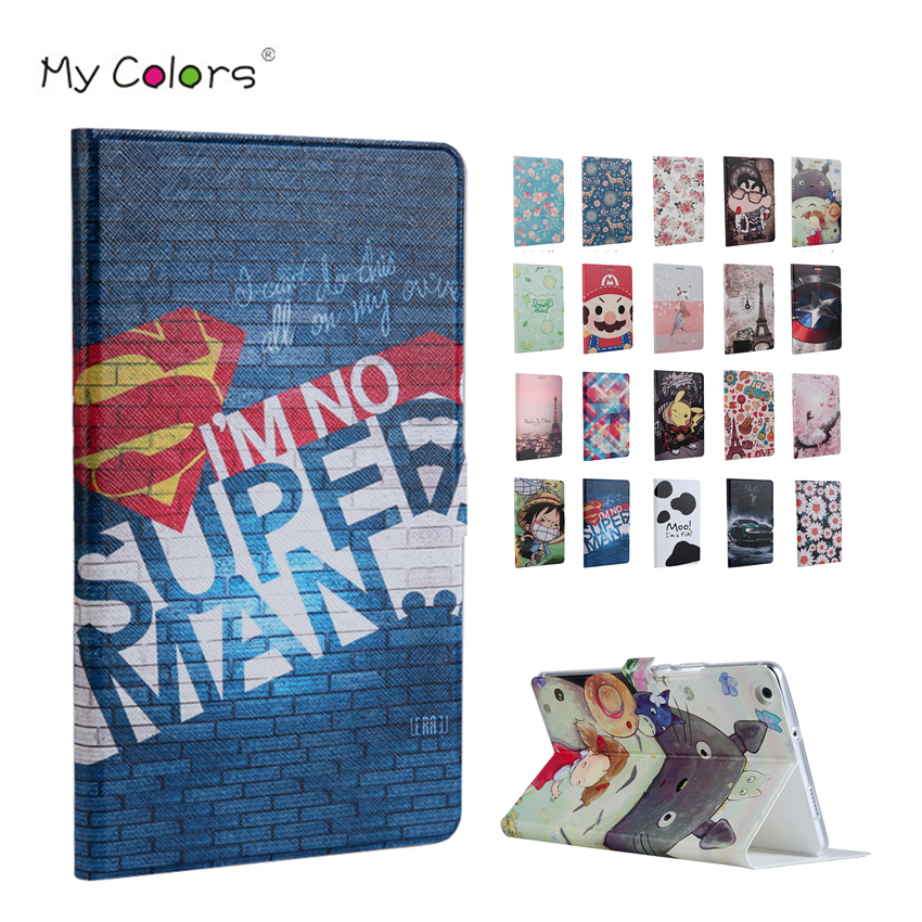 MediaPad M3 lite 10.1 inch PU Leather Case Cover Slim Color Print Protective Stand For Huawei MediaPad M3 Lite 10.0 Tablet Skin image