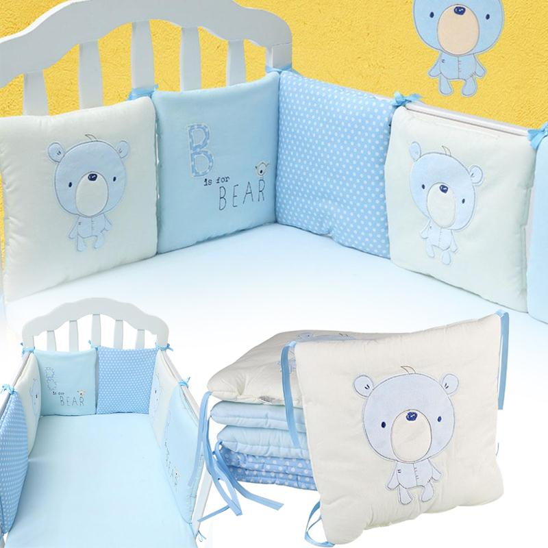 6 개 / 몫 편안한 아기 유아 침대 침대 범퍼 코튼 아이 침대 보호기 범퍼 통기성 쿠션 유아 보육 침구