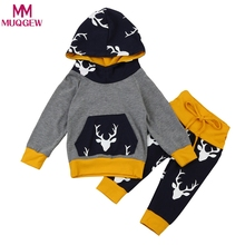fdb373979 Buy baby boys girls clothes set warm outfits deer tops and get free ...