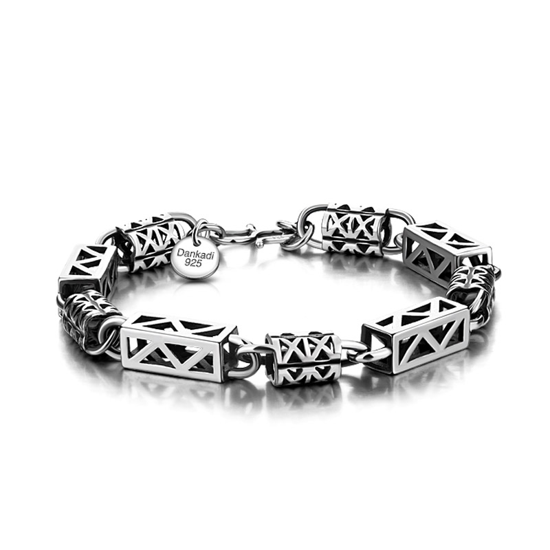 Retro personality man bracelet.The European and American fashion solid 925 silver bracelet.Sterling silver jewelry wholesale men