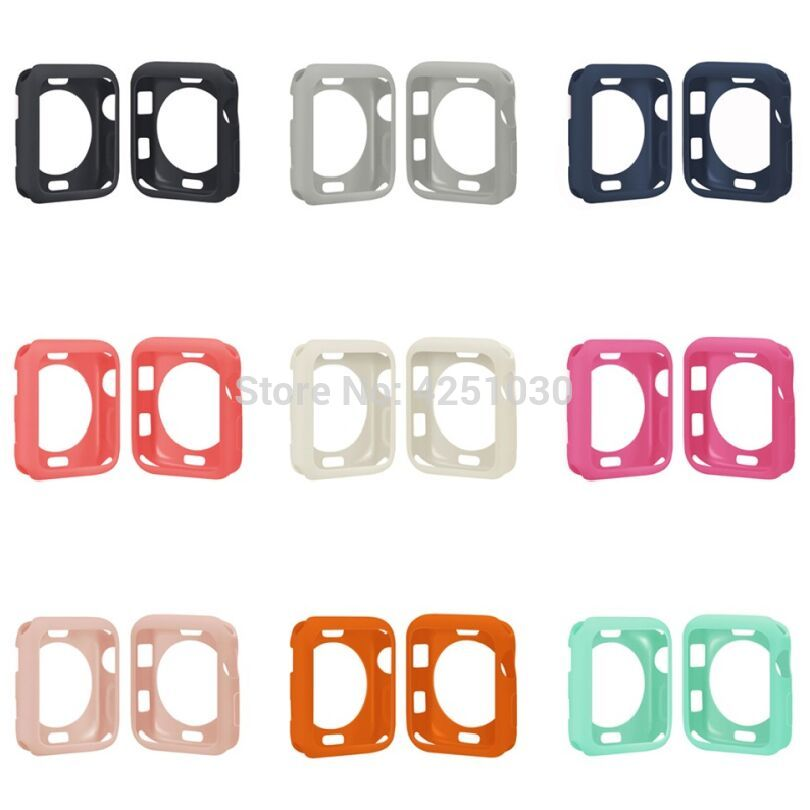 TROLLOVE New TPU Frame For Apple Watch 38mm 42mm Series 1/2/3 Soft Silicone Case Protective Bumper Cover Shell Watch Accessories soft tpu protective ultra thin case series 3 2 1 for apple watch 38mm 42mm colorful cover shell bumper watch accessories
