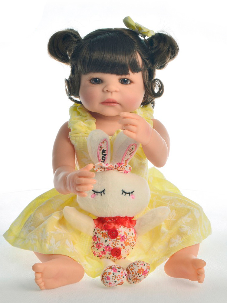 Realistic Baby Dolls Boneca Playmate KEIUMI Silicone Children's 22inch 55cm Bed-Time