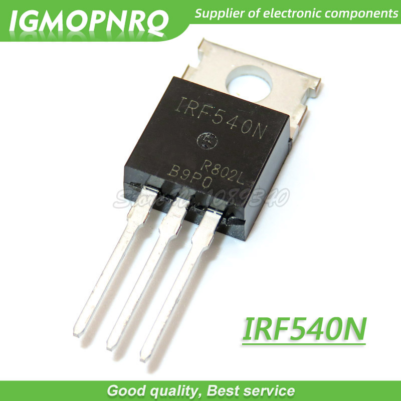 10pcs IRF540N IRF540 IRF540NPBF MOSFET 100V 33A 44mOhm 47.3nC TO-220 New Original