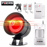 Fuers DIY Беспроводная 110db громкая сирена сигнализации быстрый код стробоскоп сирена звуковая вспышка сигнализация система для домашней охран...