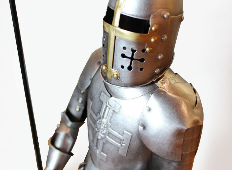 Armor Samurai Medieval Iron Vintage Den Roman Knight Model Restaurant Desktop Decorations