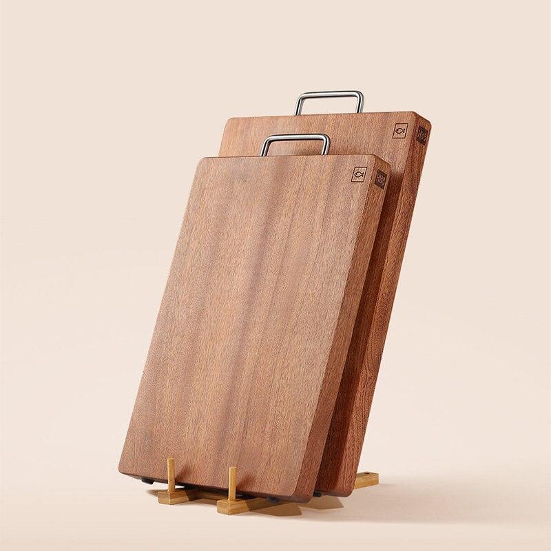 Accueil cuisine ébène bois planche à découper planche à découper carré bûches ne pas scories coupe viande nouilles WF606139