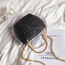 Summer Transparent Jelly Bag Round Crossbody Bags For Women 2019 PVC Luxury Handbags Designer Ladies Beach Clear Shoulder