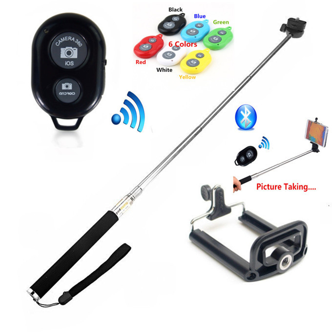 buy extendable handheld wireless monopod bluetooth stick bluetooth remote. Black Bedroom Furniture Sets. Home Design Ideas