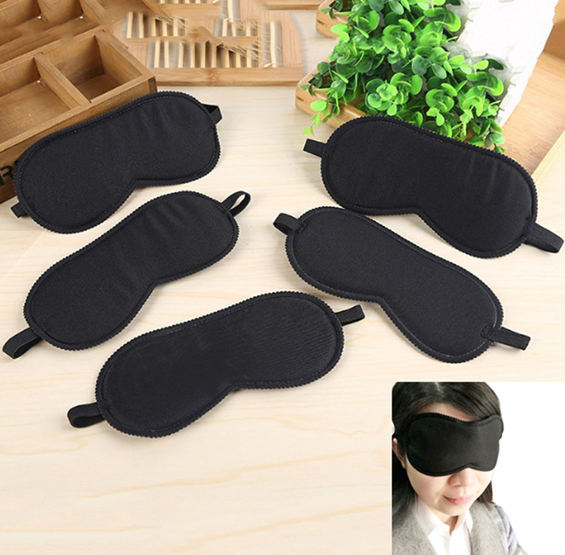 Black Eye Masks Fast Sleeping Eye Mask Eyeshade Cover Shade Patch Women Men Soft Portable Blindfold Travel Slaapmasker