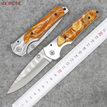 Tactical Pocket Folding Knife With Steel+Resin Handle 440 Blade Survival Hunting Knives Outdoor Camping Combat EDC Tools