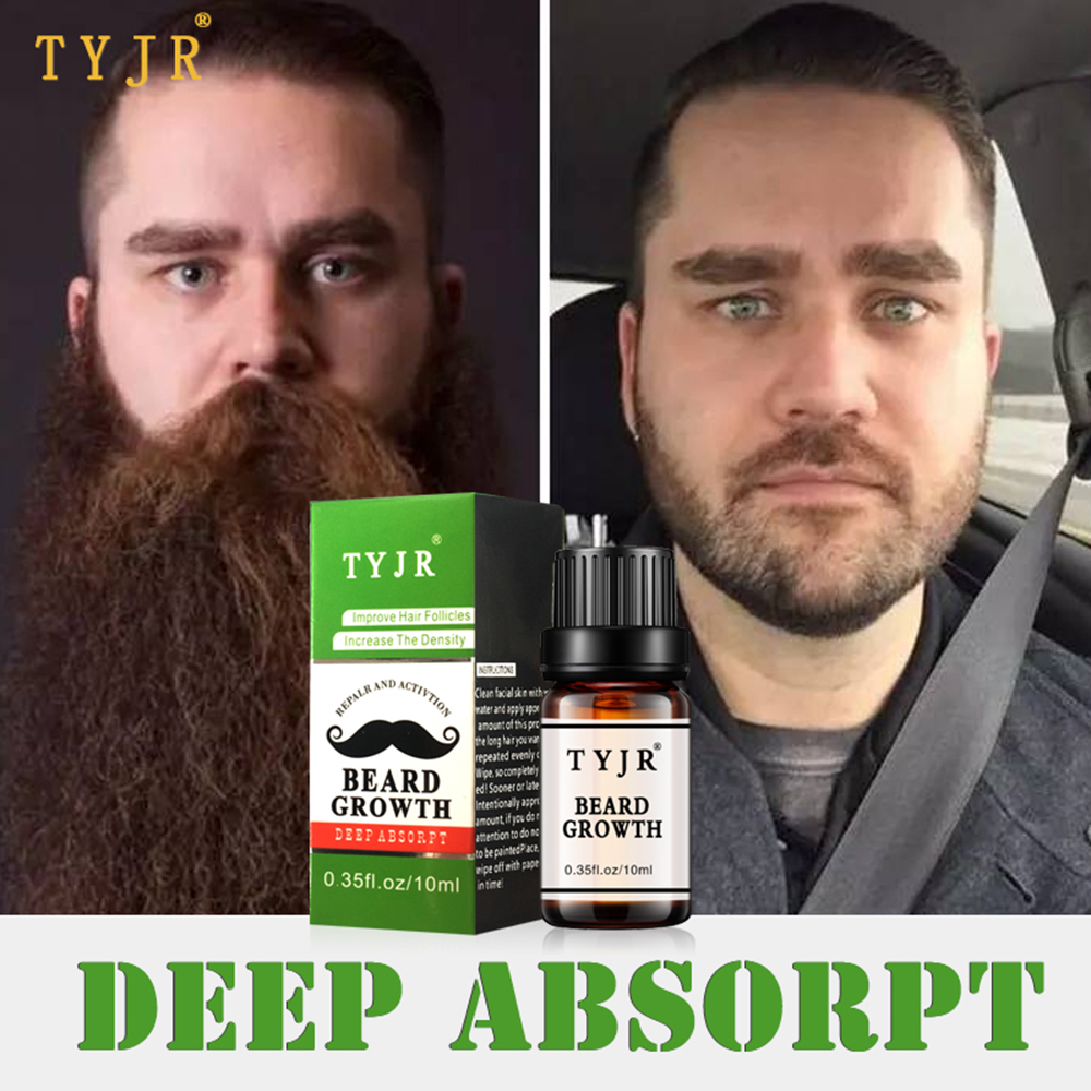 1PC Beard Growth oil Beards Hair Thicker Essence Mustache Thick Sideburn Treatment Sunburst Alopecia Serum Beard Shaping TSLM1
