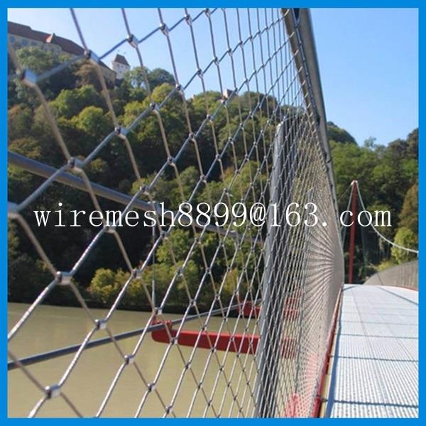 AISI304 decorative rope wire mesh ,Architectural material decorative ...