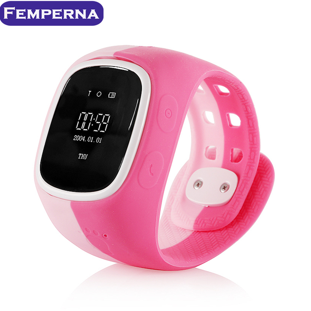 Femperna D14 Children Smart Watch Kid Locator Tracker SOS Call Anti-Lost Remote Monitor for IOS Android GPS Tracker for Kids