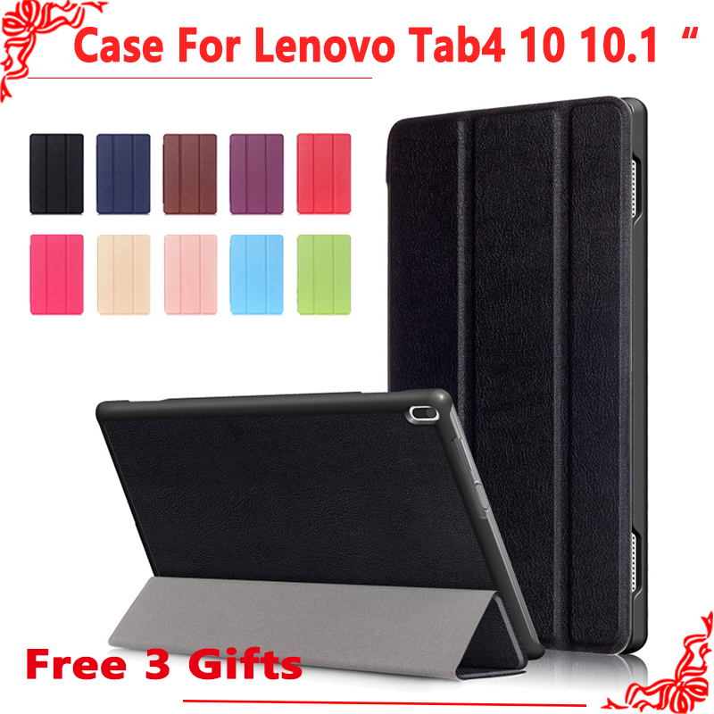 Magnetic Case For Lenovo TAB 4 10 Protective Smart cover for lenovo tab 4 10 Tab4 10 TB-X304N F Cases 10.1 (2017 release)+gift ultra slim cover case for lenovo tab 4 10 2017 release for lenovo tab410 tab4 10 tb x304n f cases 10 1 smart case cover gitf