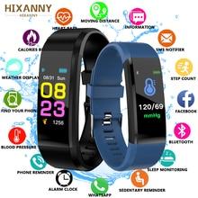2019 Waterproof Smart Bracelet Watch Wristband 115 Plus Blood Pressure Monitoring Heart Rate Monitor Fitness Band + Box