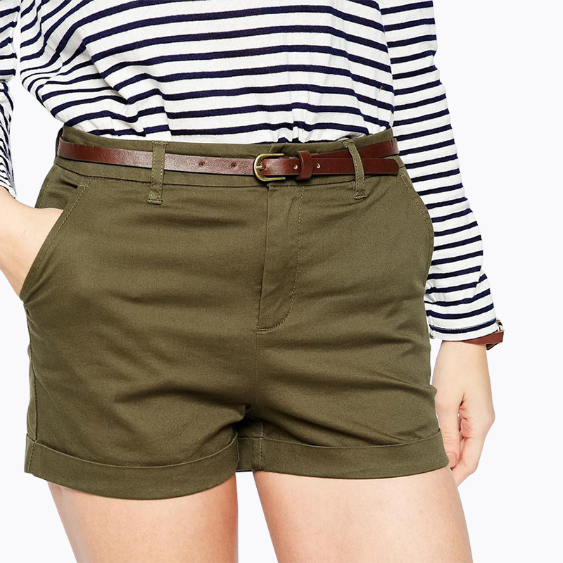 Green Shorts Ladies