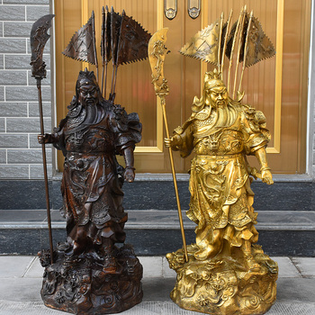 H 27-63cm A copper statue of Guan Gong Wu Bronze special offer Kowloon Historical figures Buddha lucky Home Furnishing ornaments