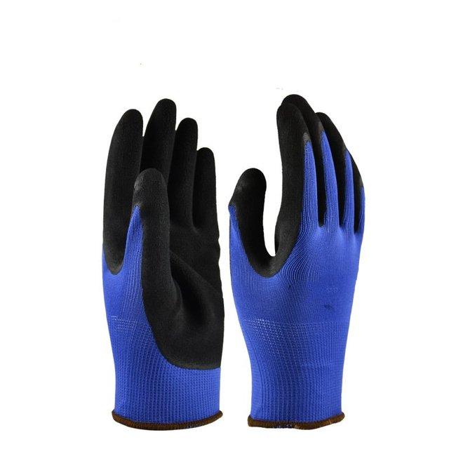 Proteção do trabalho luvas de trabalho látex respirável lágrima industrialhousehold material de poliéster
