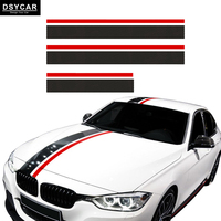 1Set Carbon Fiber Car Styling Hood Bonnet Roof Rear Trunk Stripes Side Skirt Stikers Vinyl Decals Stickers Accessories for BMW