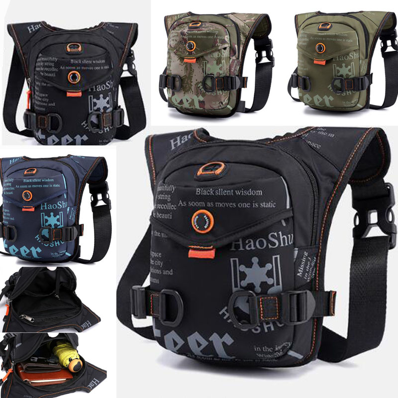 High Quality Men Fanny Bag Waterproof Oxford  Trend Riding Bag High Quality Messenger Shoulder Bags Drop Waist  Leg Bag